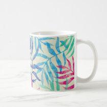 Watercolor Tropical Palm Leaves II Coffee Mug