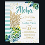 "Watercolor Tropical Pineapple Beach Baby Shower Invitation<br><div class=""desc"">Watercolor Tropical Pineapple Beach Baby Shower Invitation</div>"