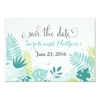 Watercolor Tropical Save the Date Card