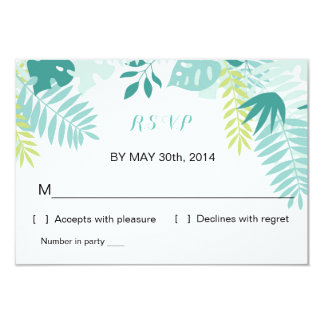 Watercolor Tropical Wedding | R S V P Reply Card