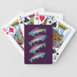 Watercolor Trout Bicycle Playing Cards
