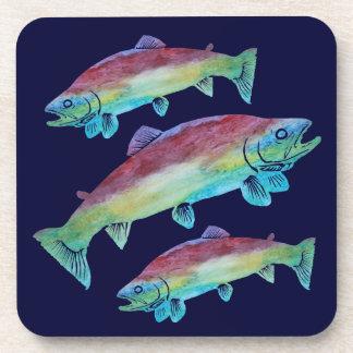 Watercolor Trout Coaster
