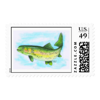 Watercolor Trout Postage