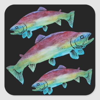 Watercolor Trout Stickers
