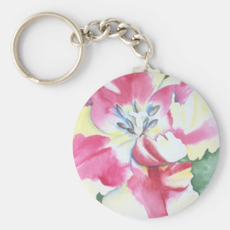 Watercolor Tulip Keychain