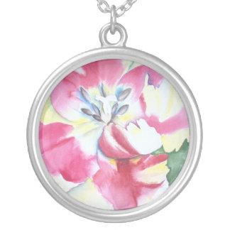 Watercolor Tulip Necklace