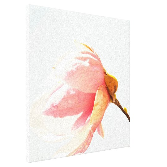Watercolor Tulip Tree Flower Canvas Print