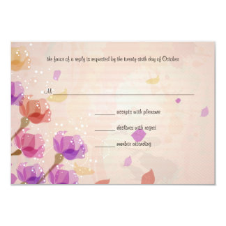 Watercolor Tulips Wedding RSVP Response Card