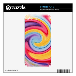 Watercolor Twist iPhone 4 Skins