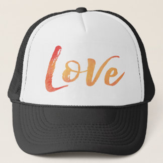 Watercolor Typography Trucker Hat
