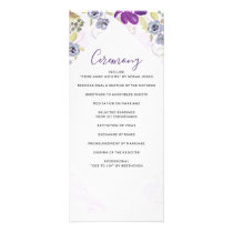 Watercolor Ultra Violet Floral Wedding programs