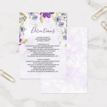 Watercolor Ultra Violet wedding Detail card