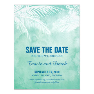 Watercolor Under the Palm Trees | Save the Date Card