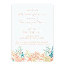 Under the sea bridal shower invitations announcements zazzle watercolor under the sea bridal shower invitation filmwisefo Images