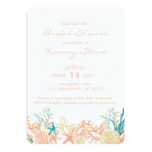 Under the sea bridal shower invitations announcements zazzle watercolor under the sea bridal shower invitation filmwisefo
