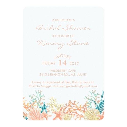 Watercolor under the sea bridal shower invitation zazzle watercolor under the sea bridal shower invitation filmwisefo