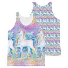 Watercolor Unicorns All-Over-Print Tank Top