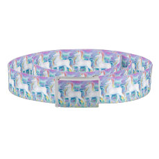 Watercolor Unicorns Belt