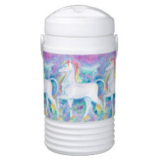Watercolor Unicorns Beverage Cooler