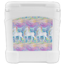 Watercolor Unicorns Cooler