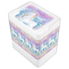 Watercolor Unicorns Drink Cooler