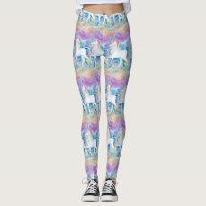 Watercolor Unicorns Leggings