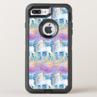 Watercolor Unicorns OtterBox Defender iPhone 8 Plus/7 Plus Case
