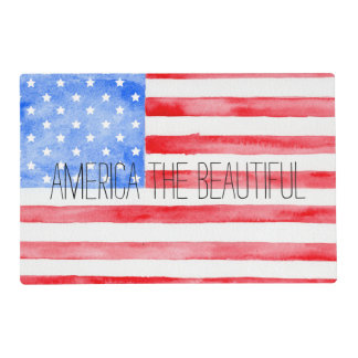 Watercolor USA Flag Placemat