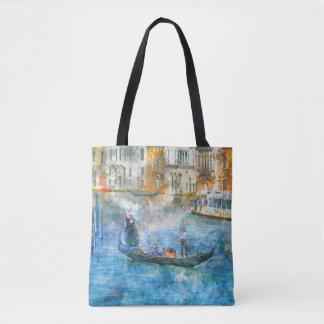Watercolor Venice Italy Custom Bag