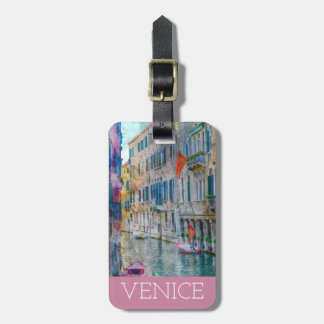 Watercolor Venice Italy Gondola Luggage Tag