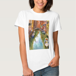 Watercolor Venice Painting T Shirt