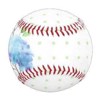 Watercolor vertical seamless pattern border baseball