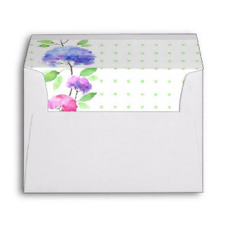 Watercolor vertical seamless pattern border envelopes