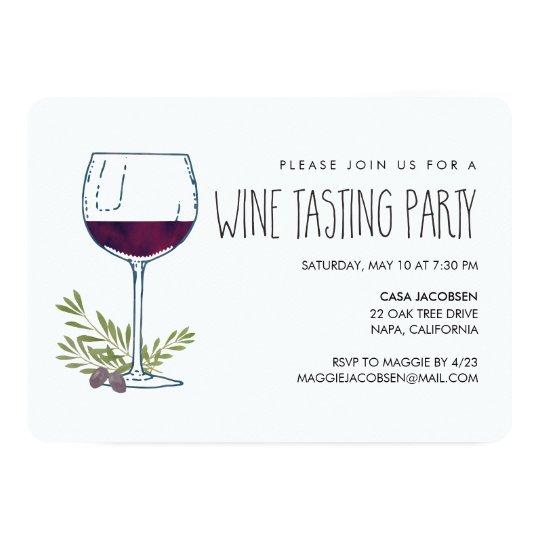watercolor vino wine tasting party invitation zazzle com