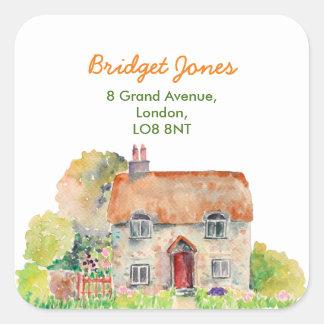 Watercolor Vintage Cottage Address Label
