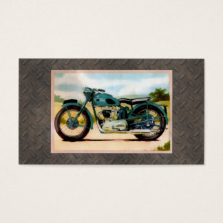Watercolor Vintage Motorcycle Business Card