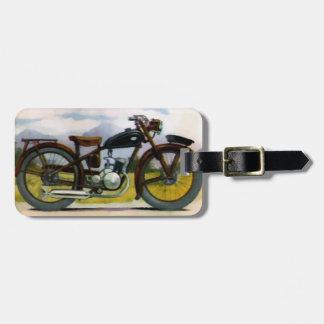 Watercolor Vintage Motorcycle Bag Tags