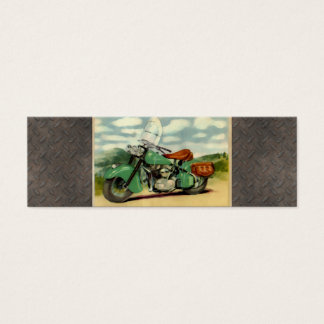 Watercolor Vintage Motorcycle Mini Business Card
