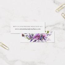 Watercolor Violet Poppy Floral Wedding RSVP