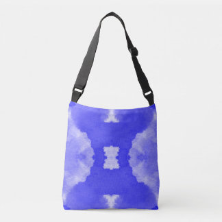 watercolor violet stains  pattern crossbody bag