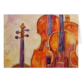 Watercolor Violins Card
