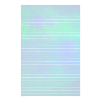 Watercolor Wahes of Blue and Green Lined Paper