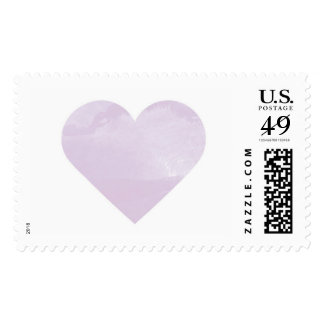 Watercolor Wash Heart in Lavender Postage Stamp