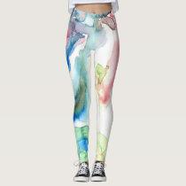 Watercolor Wash Leggings