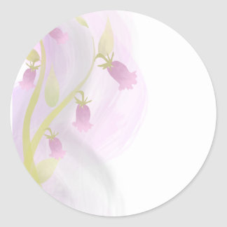 Watercolor Wash Pale Pink Classic Round Sticker