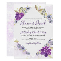 Watercolor Wash Ultra Violet Spring Wedding Card