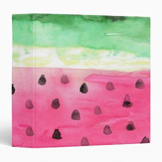 Watercolor Watermelon Binder