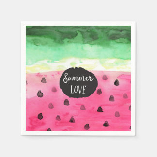 Watercolor Watermelon Paper Napkin