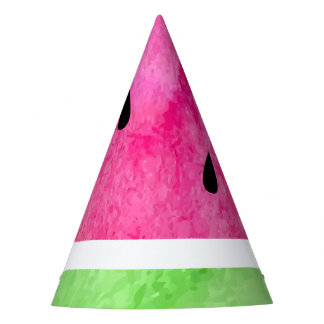 Watercolor Watermelon Party Hat