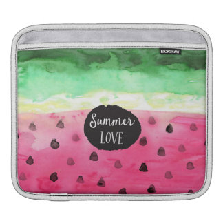 Watercolor Watermelon Sleeve For iPads
